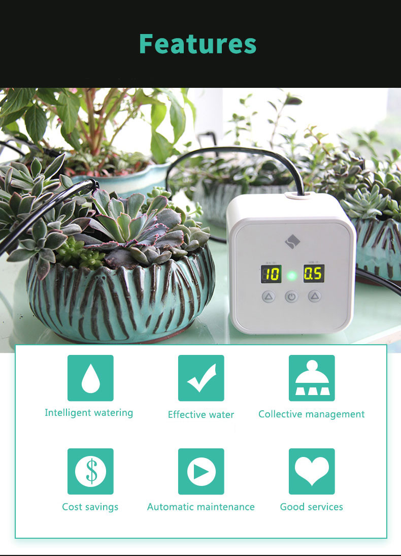 Garden Family Smart Flower Water Irrigation Timer Intelligent Automatic Indoor Plant Drip Watering