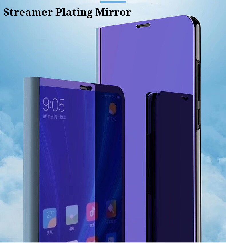 Bakeey Flip Smart Sleep Mirror Window View Bracket Protective Case For Xiaomi Redmi 5 Plus