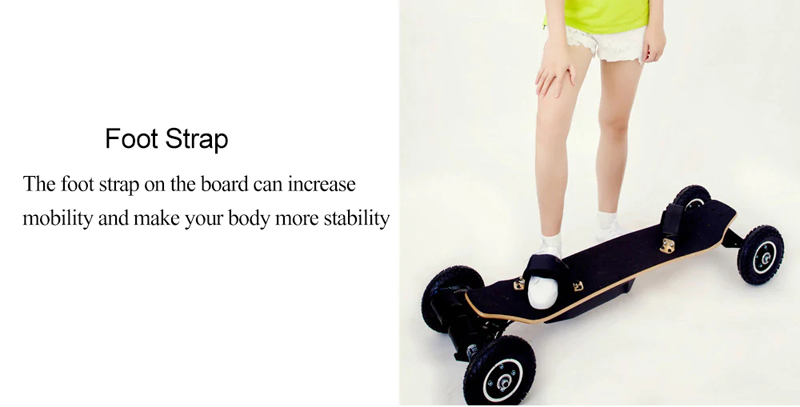 ALFAS H2C-01 2x1650W 36V 11AH 10S5P Brushless Motor Dual Belt Motor Off-road Skateboard 11000mAh Battery 4-wheel Electric Skateboard 200kg Payload 38km/h Top Speed
