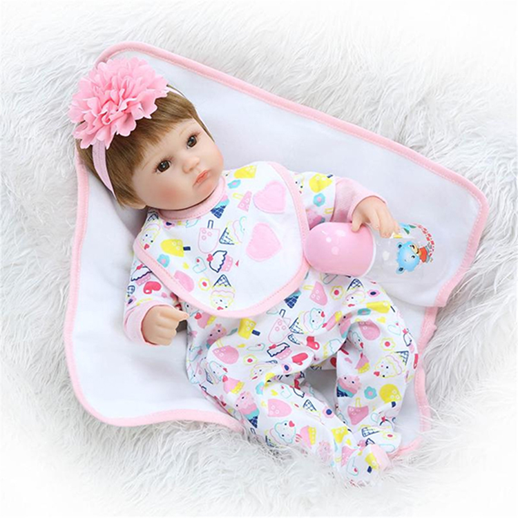 16inch Reborn Baby Doll Handmade Lifelike Girl Play House Toy