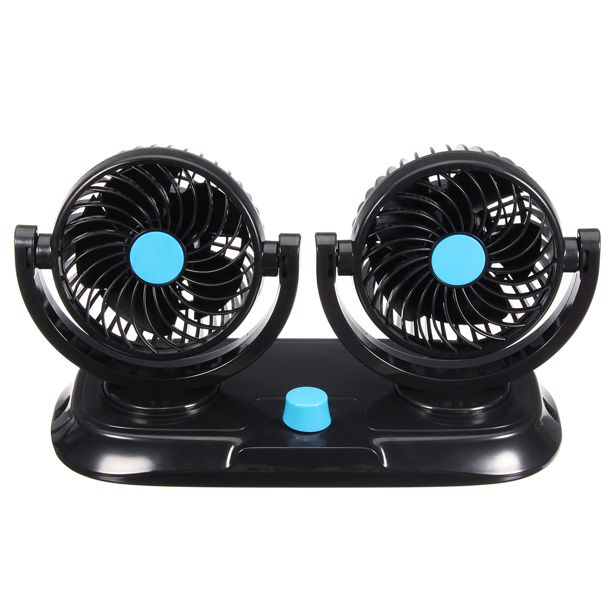 12V Adjustable Double 360 Degrees Mini Oscillating Fan Rotation Cooling Fan Air Conditioner