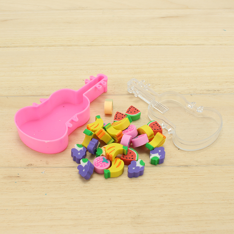 Cute Animal Eraser Creative DIY Violin Beaded Eraser