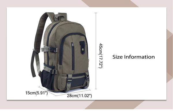 Men Outdoor Trendy Canvas Travel Backpack