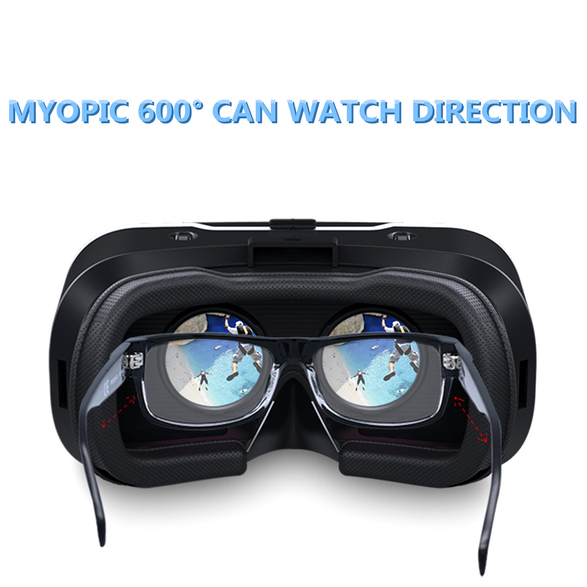 Virtual Reality 3D Movie Smartphone Game 3D Glasses Helmet for Mobile Phone