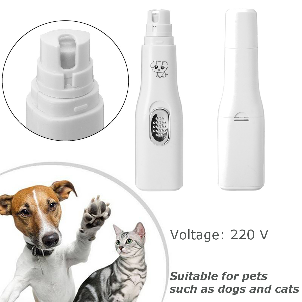Automatic Nail Clipper Pet Dog Cat Nail Polisher Pet Grooming Supplies