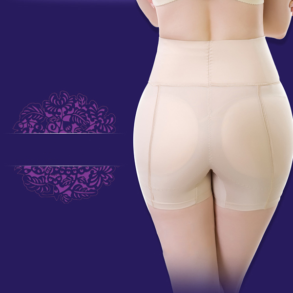 Plus Size Buttocks Pad Hip Lifting High Waist Elastic Shapewear