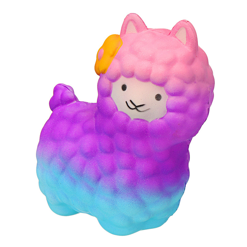 18cm Jumbo Sheep Squishy Cute Alpaca Galaxy Slow Rising Scented Fun Animal Toys Gift