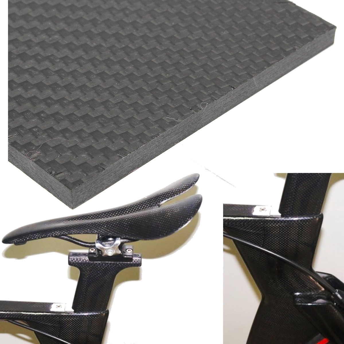 Suleve™ CF129805 3K 129x80×5mm Weave Carbon Fiber Plate Panel Sheet