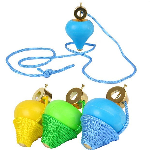 5 x 8.5cm Swing Rope Gyro Brokered Puzzle Traditional Nostalgic Toys Children's Toys Stall Gyroscope Baby Toys