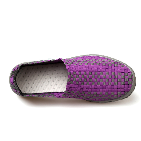 Colorful Hand-made Knitted Casual Round Toe Athletic Health Shoes