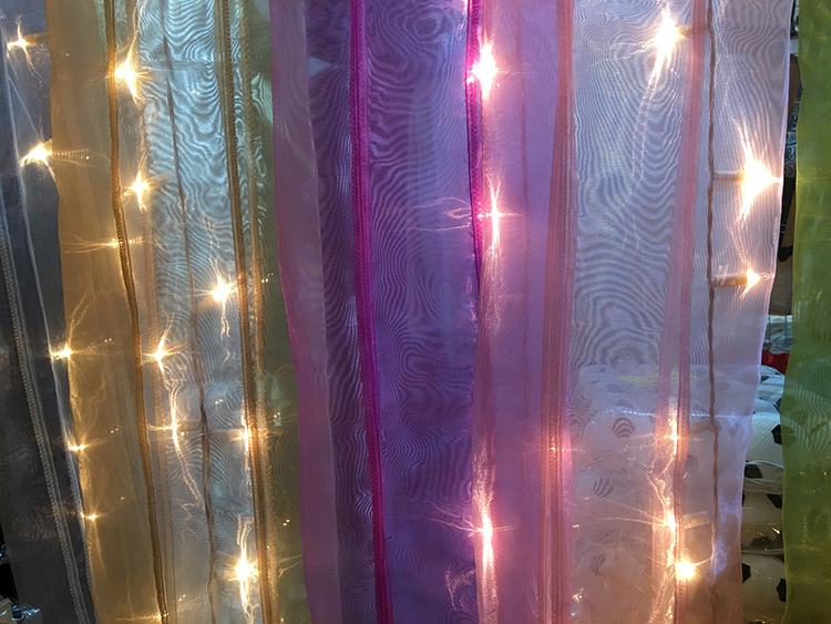 LED Exclusive New High-grade Pearl Yarn Curtain Light Thailand Decorative Lights Shop household Decorations Event Planning Background Color