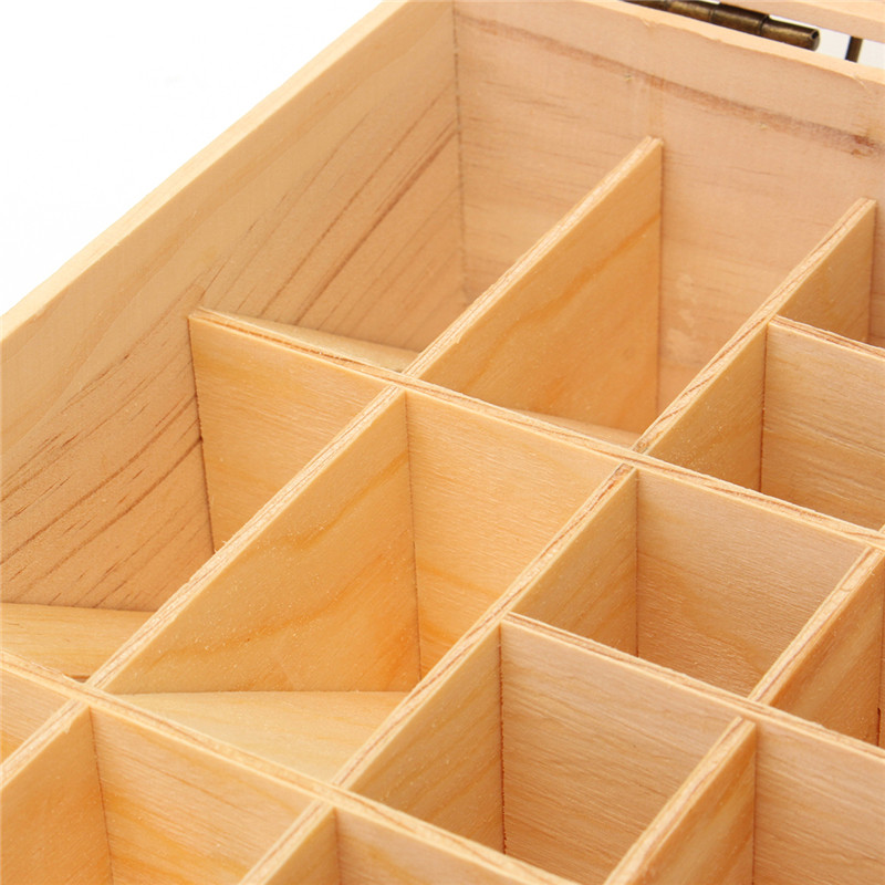 64 Slot Wooden Essential Oil Bottle Storage Box Aromatherapy Organizer Container Case