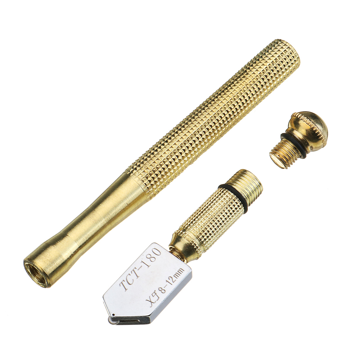 17mm Metal Handle Straight Head Oil Cutter Glass Cutter Oil Feed Glass Ceramic Tile Cutter