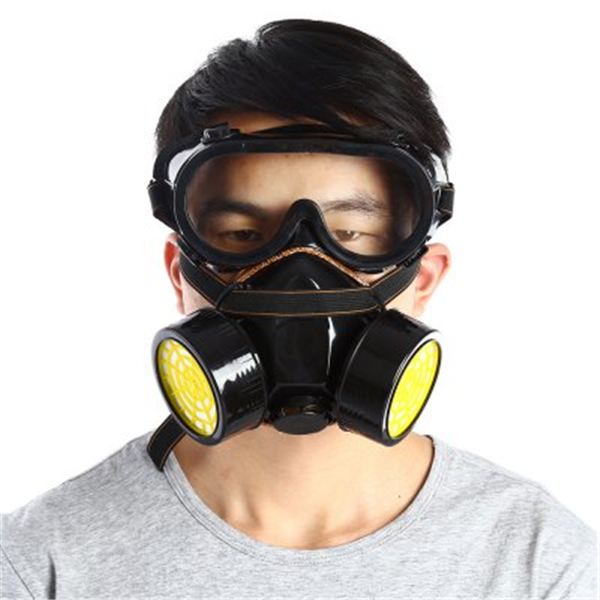 Double Filter Gas Protection Mask Filter Chemical Respi