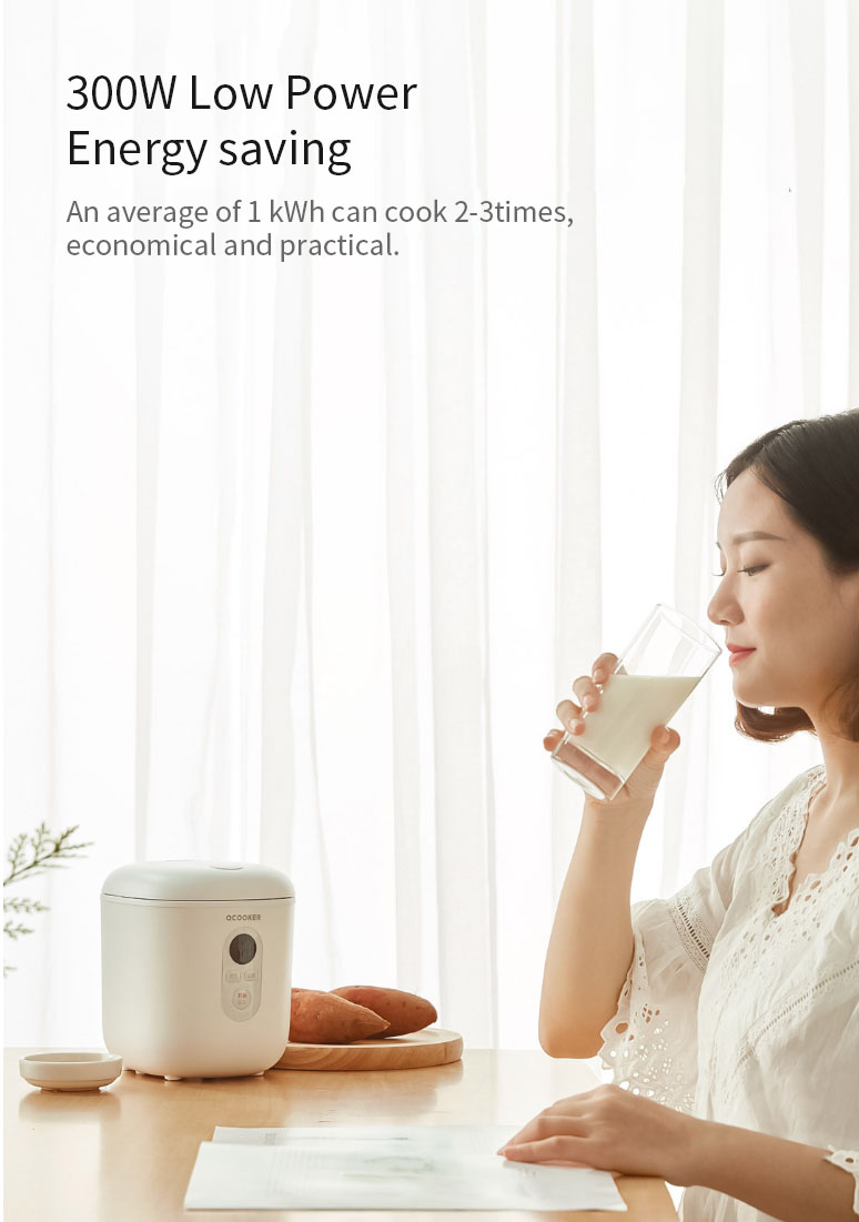 OCOOKER QF1201 Mini Smart Rice Cooker 1.2L 300W Portable Mini Rice Cooker 10 hour Appointment from Xaiomi Youpin