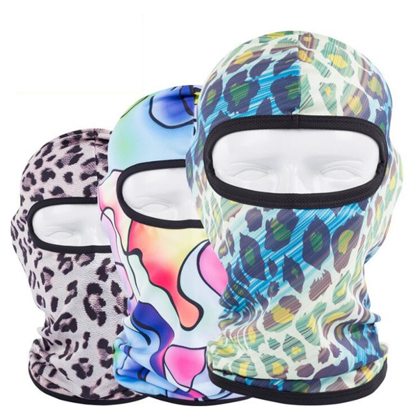 Quick-Dry Balaclava Full Face Mask Outdoor Sport Swim Cap Panther Print Motorcycle