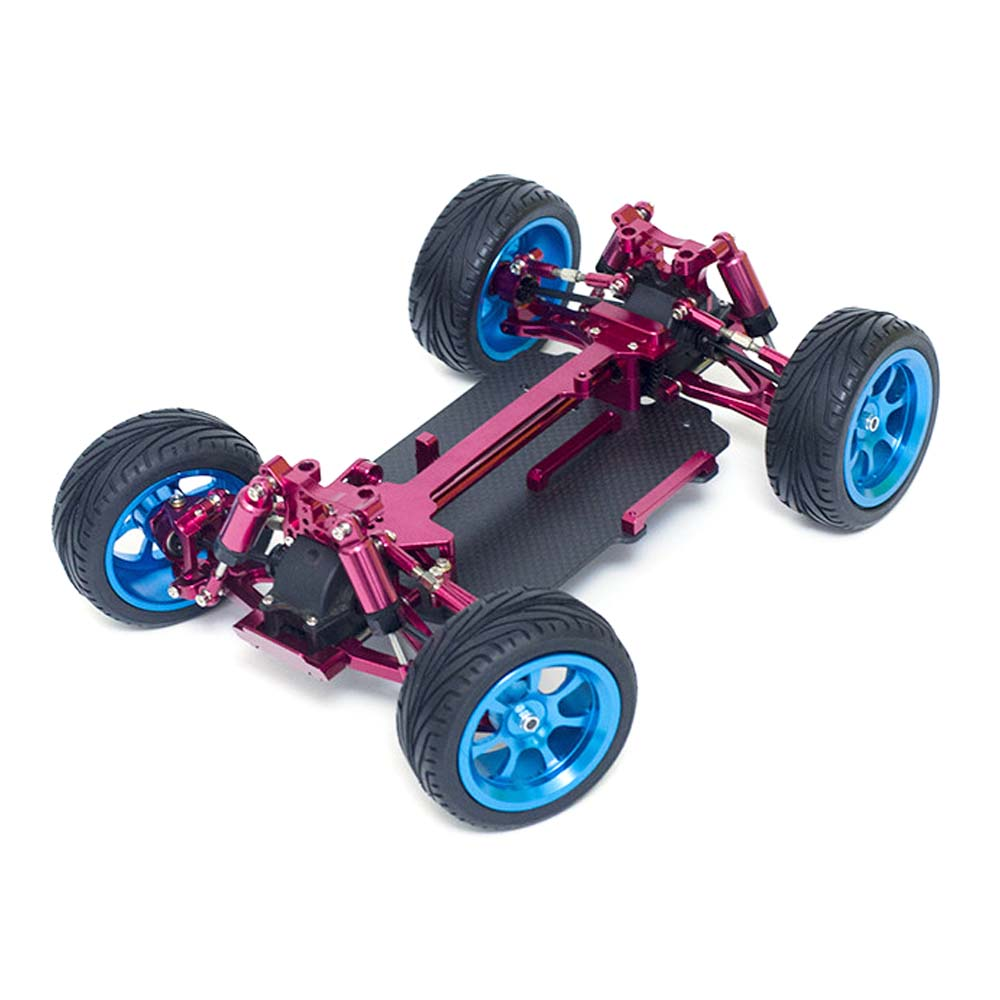 Wltoys 1/18 4WD A959 A969 A979 All Metal RC Car Chassis RC Vehicle Models Parts Red/Gold/Titanium - Photo: 2