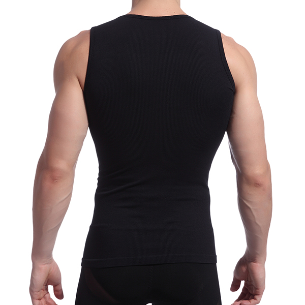 Men's Thread Body Sculpting Tights Vest Sexy High Elastic Waist Tummy Tuck Sport Tank Tops