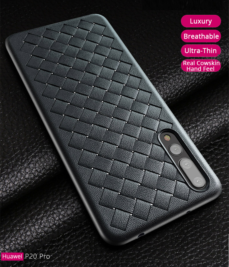 Baseus Weaving Breathable Shockproof Soft Silicone Protective Case For Huawei P20 Pro