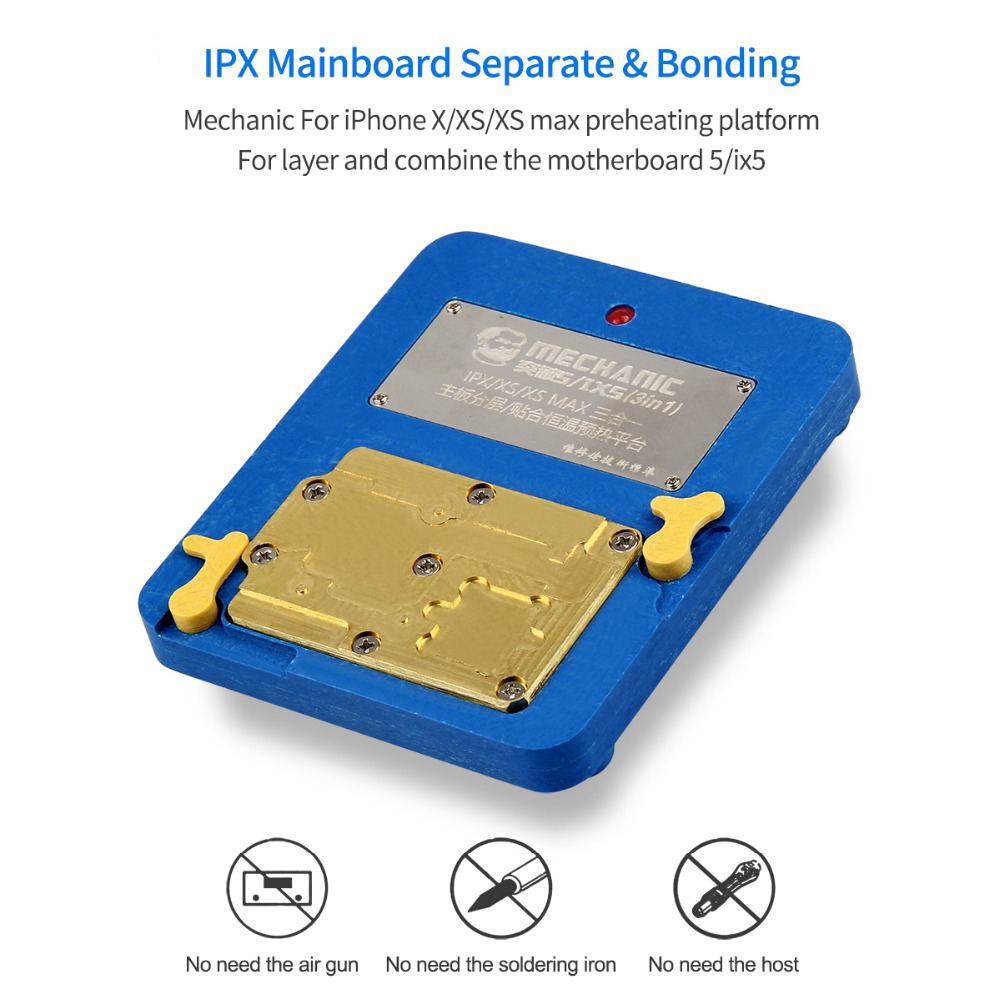 MECHANIC 5/IX5 Motherboard Layering Upper and Lower Laminated Constant Temperature Heating Table Phone Repair Tool for IPHONE X XS XS MAX
