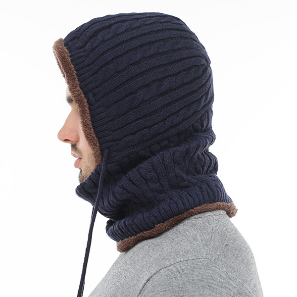 Women Men Thick Knitted Warm Beanie Cap