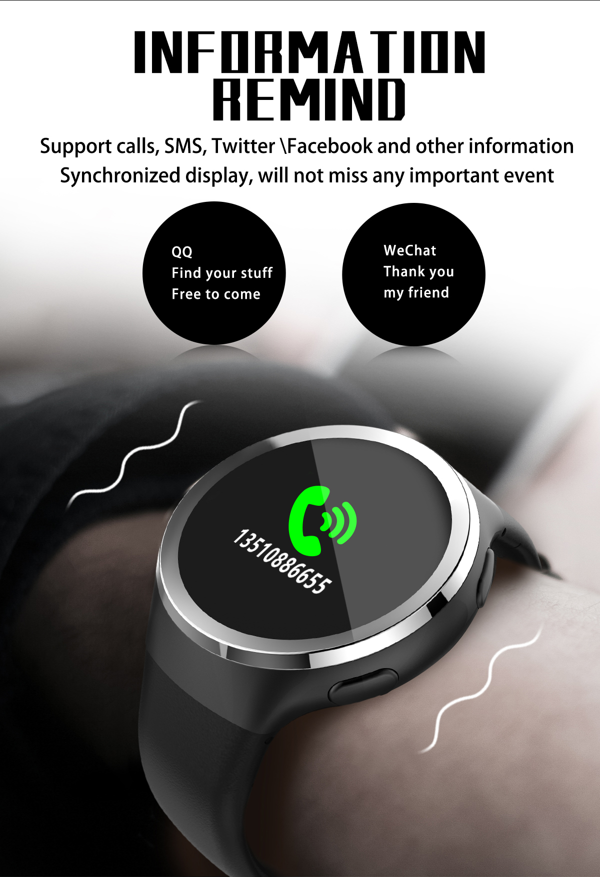 Bakeey N69 Sports 0.95inch OLED Heart Rate Blood Oxygen Pedometer Smart Watch Wristband