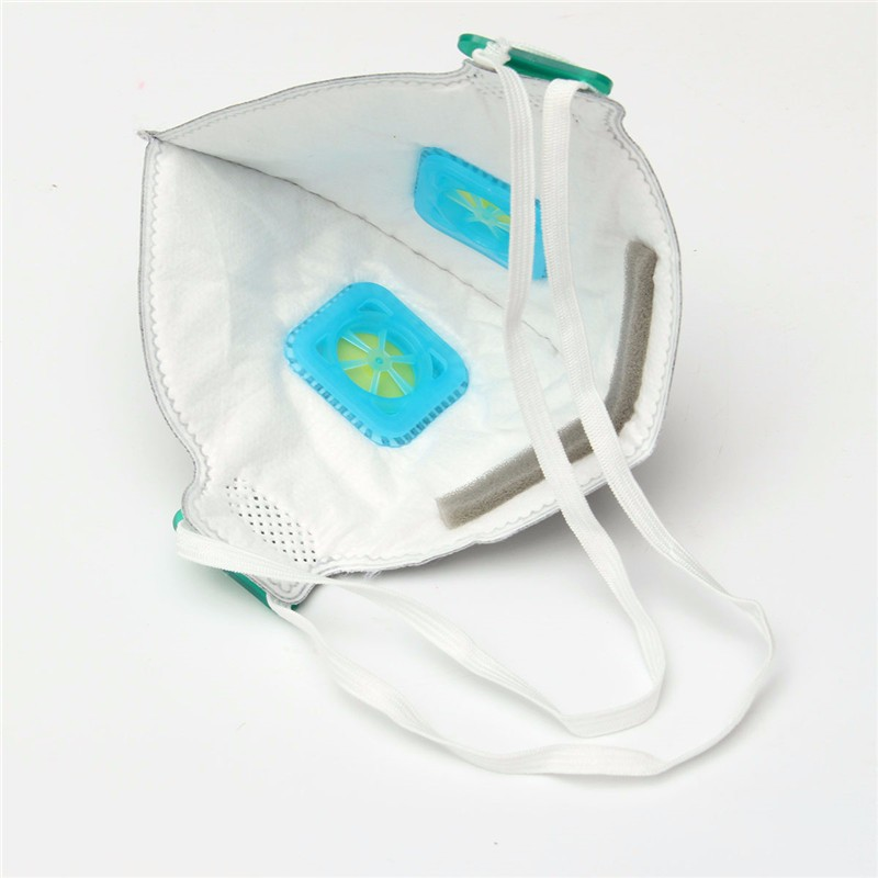 Industrial Dust Mask Respirator Gas Mask Double Valve N95 Activated Carbon Anti Haze Mask