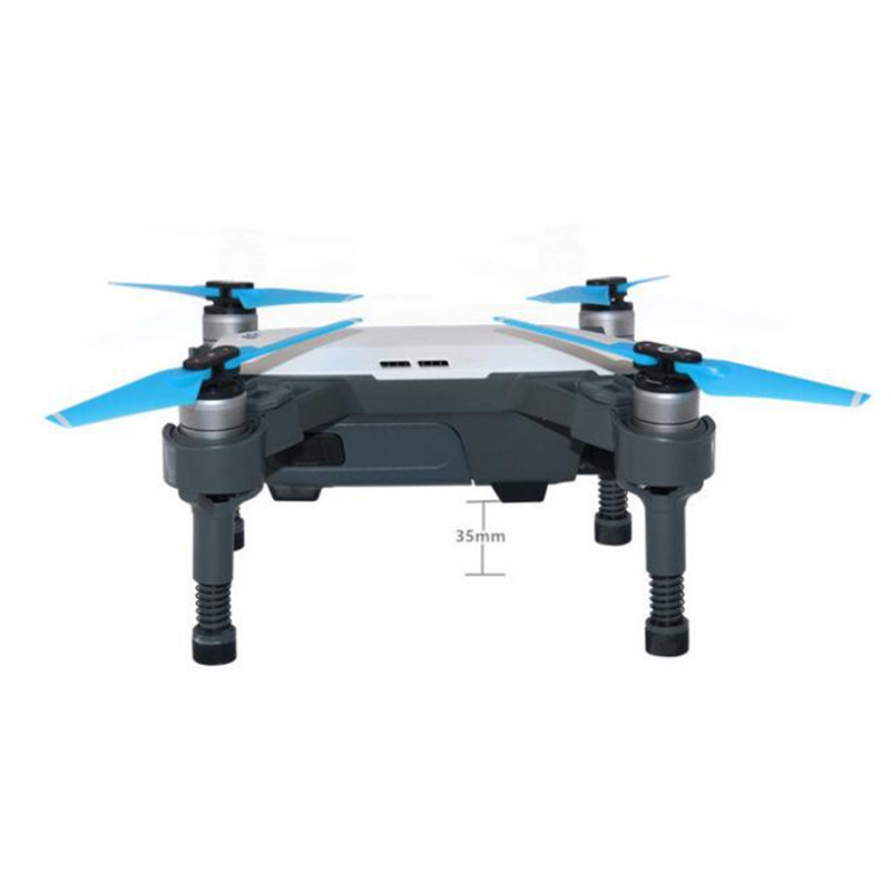 Spring Landing Gear Skid Shock Absorption Protection Guard 35mm Heighten 4pcs for DJI Spark Drone