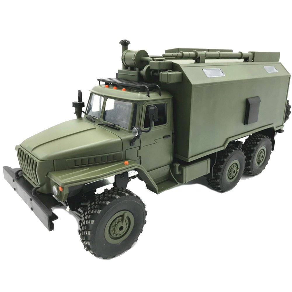 WPL B36 Ural 1/16 Kit 2.4G 6WD Rc Car Military Truck Rock Crawler Command Communication Vehicle Toy