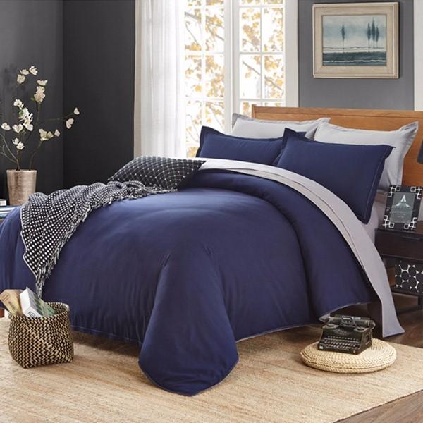 Honana WX-8368 4Pcs Solid Color Bedding Set Duvet Cover