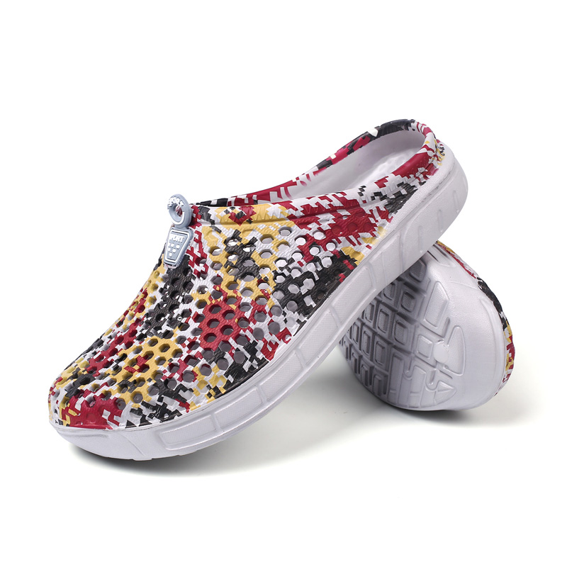 Men Foam Thick Slippers Shoes Beach Seaside Breathable Summer