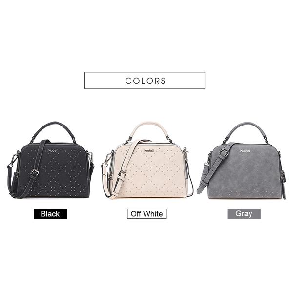 Kadell Ladies Suede Leather Messenger Bag Elegant Bag