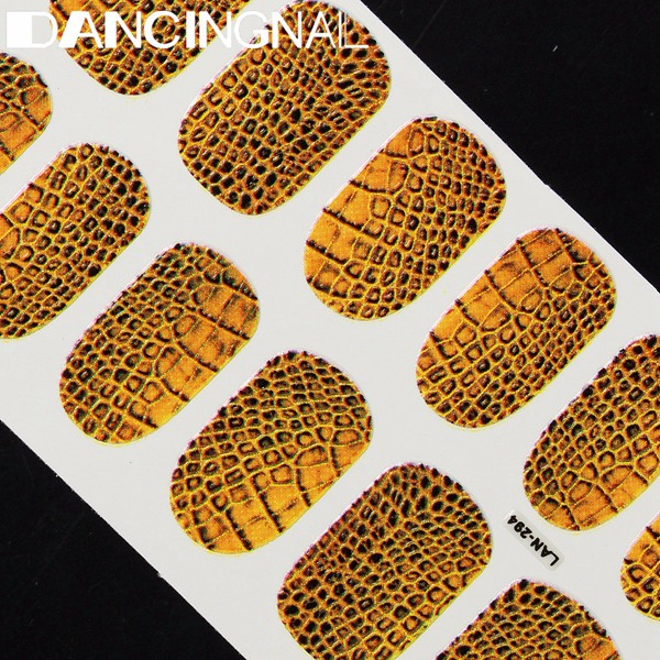 Wild Snake Skin Crocodile Skin Pattern Nail Art Sticker Decoration Self Adhesive Full Wrap Decal