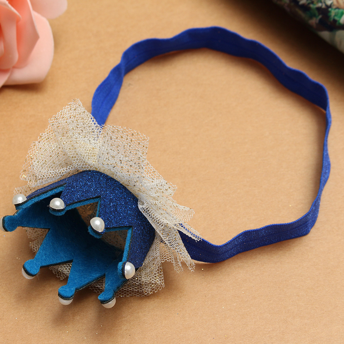 New Girl Kids Children Baby Lace Tiara Elastic Party Headbrand Hair Accessories