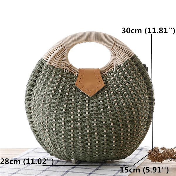 Women Nest Tote Handbag Summer Beach Bag Straw Bag Handbag