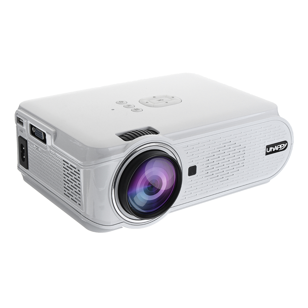 Uhappy U90 Full HD 1080P 7000 Lumens Smart Projector TV Home Theater with Remote Control White