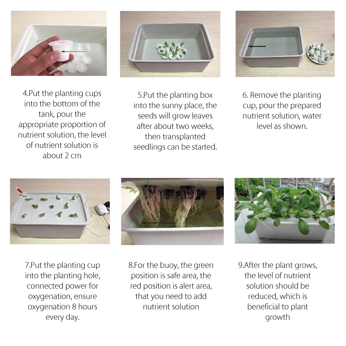 220V 24 Holes Hydroponic System Kit Indoor Aerobic Soilless Cultivation Water Planting Grow Box
