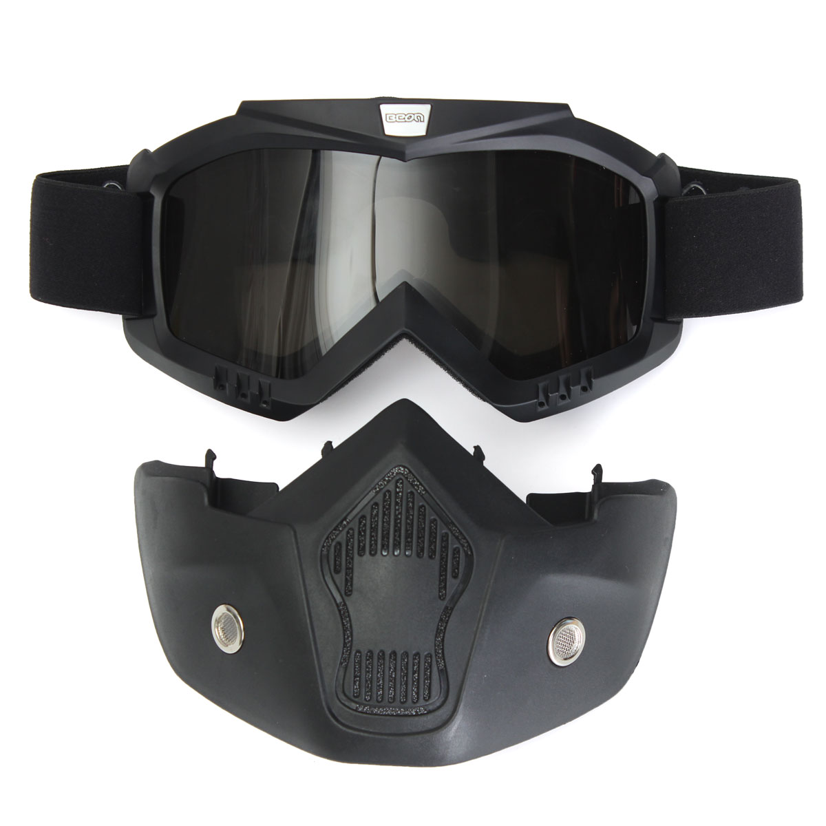 ECE Vintage Motorcycle Fiber Glass Helmet With Face Mask Shield Goggles For Harley