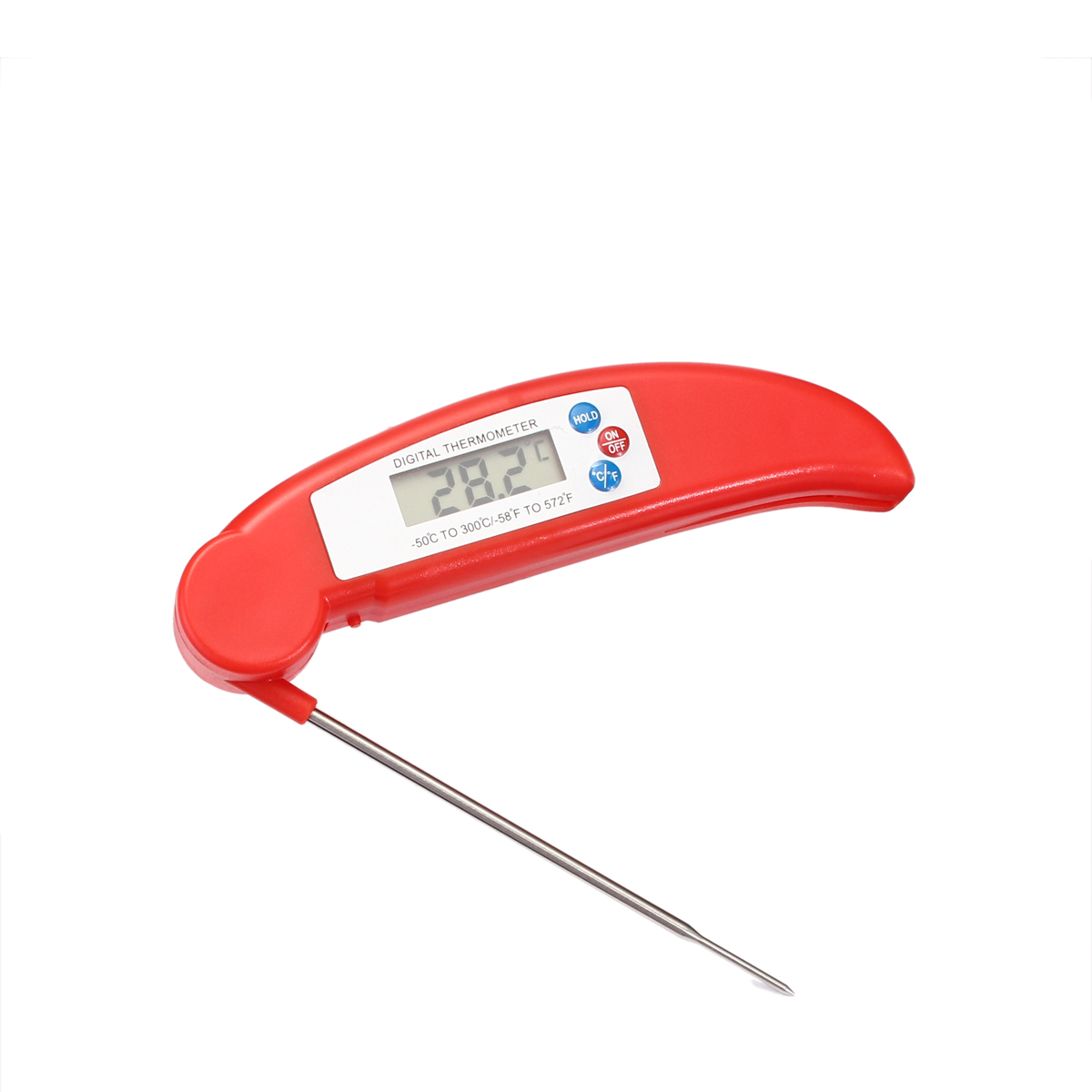 Meat Thermometer Grill BBQ Food Cooking LCD Digital Gauge Kitchen Probe Degree Fahrenheit Centigrade
