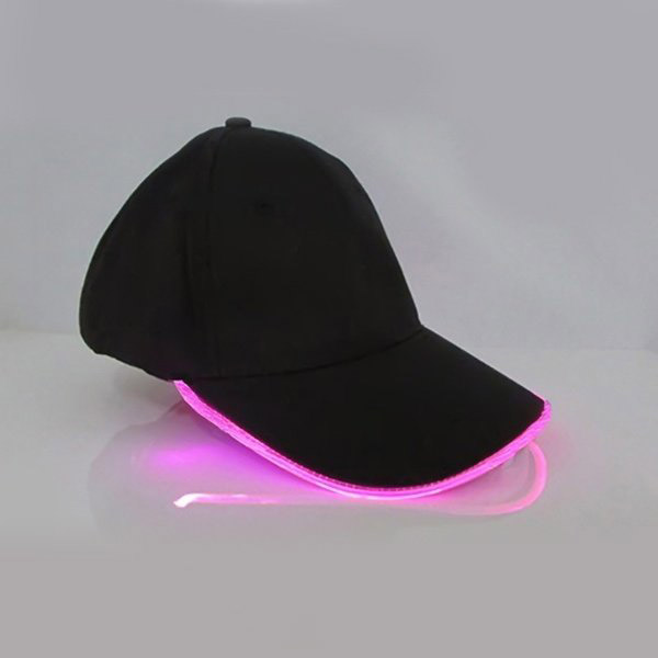 New Punk Style LED Light Baseball Hat Luminous Cap