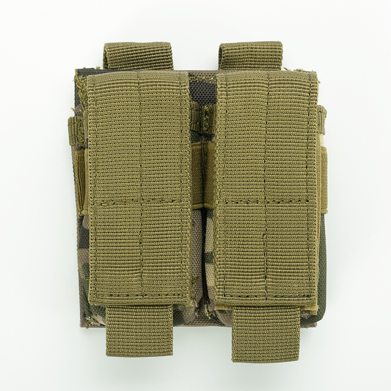 Tactical Double Mag Pouch Molle Quick Access Ammo Clip Gun Accessories Magazine Holder Bag For Belt Placement