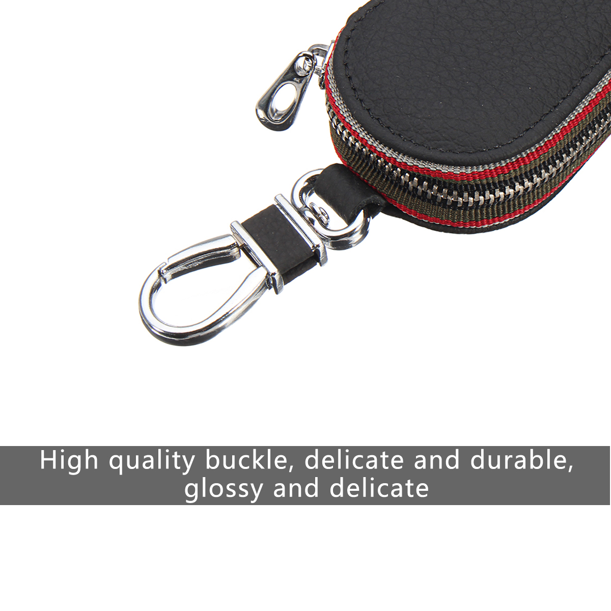 Universal PU Leather Car Smart Remote Control Key Holder Storage Bag Case Cover