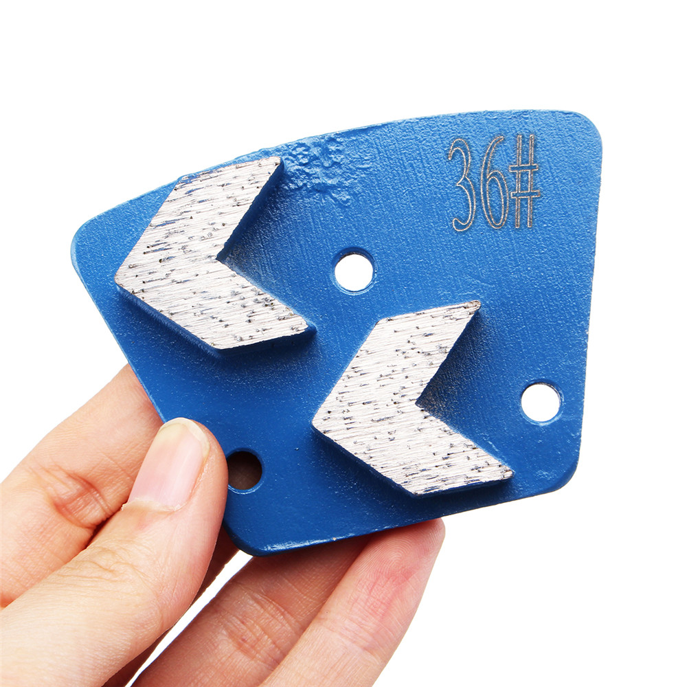 36 Grits Trapezoid Diamond Grinding Disc Pad Scrapers For Grinder Concrete Floor