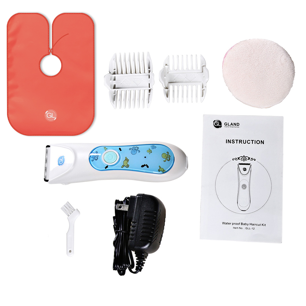 GL L-12 Baby Infant Electric Hair Clipper Waterproof Hair Trimmer Cutting Ultra Slient Baby Adult Electric Hair Kit USB Fast Charging