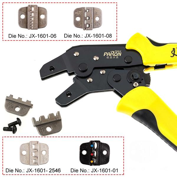 Paron® JX-1601-2546 Multifunctional Ratchet Crimping Tool AWG14-10 Terminals Pliers