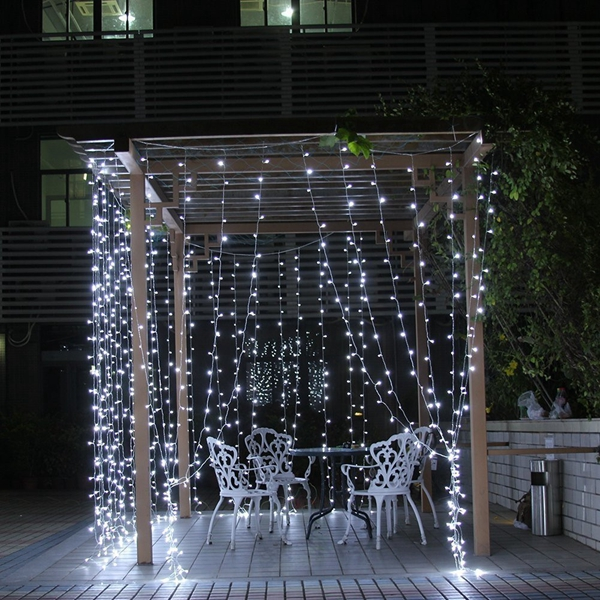 8Mx3M 800 LED Waterproof String Fairy Curtain Light Outdoor Party Wedding Christmas Decor 220V
