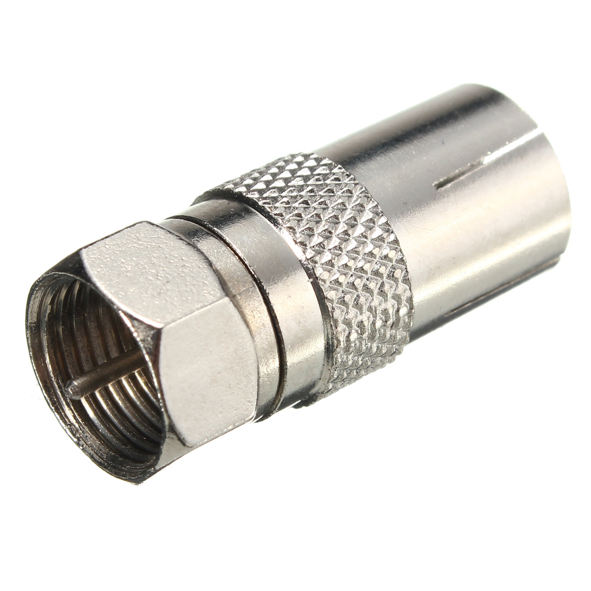 Aerial Female Socket Adaptor To F Type Screw Male Plug TV RF Coaxial Connector Converter