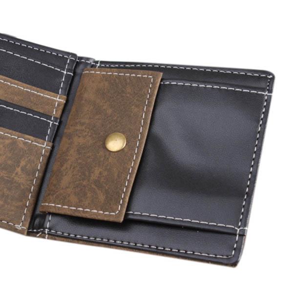 Men Wallet, Retro Canvas Punk, Zipper Three Fold Wallet, Card Holders Money Bag