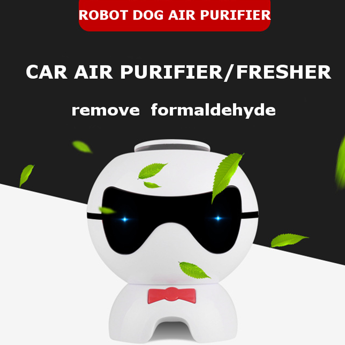Touching Type Car Air Purifier Negative Ion Anion Freshener Remove Formaldehyde Desktop Air Cleaner