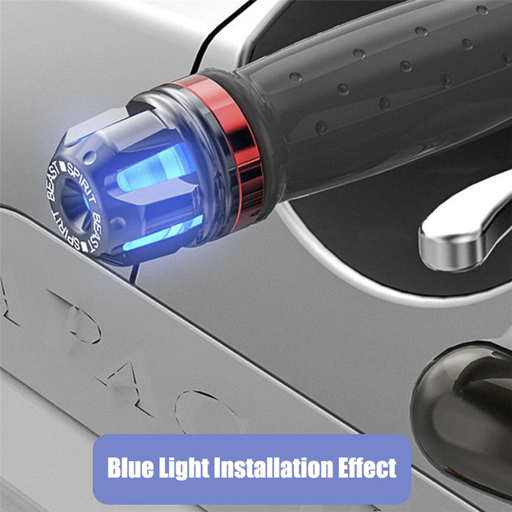 Spirit Beast Motorcycle CNC Turn Signals Light For Handle Bar End Cover Grip Plug Hand Block Cap